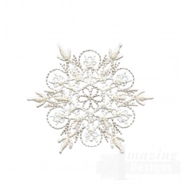 Crewel Snowflake 12 Embroidery Design
