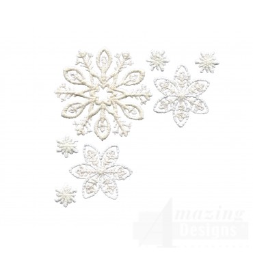 Crewel Snowflake Group 1 Embroidery Design