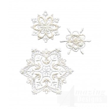Crewel Snowflake Group 3 Embroidery Design