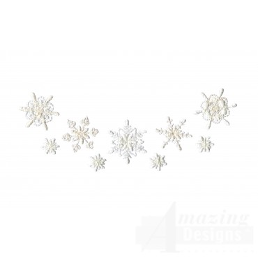 Crewel Snowflake Group 4 Embroidery Design