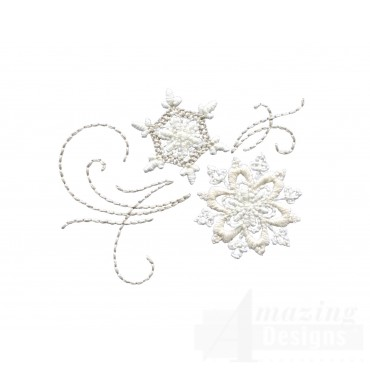 Crewel Snowflake Group 6 Embroidery Design