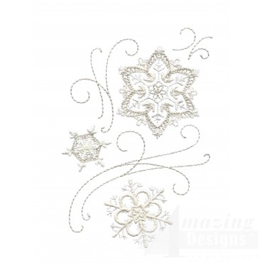 Crewel Snowflake Group 7 Embroidery Design