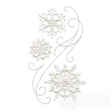 Crewel Snowflake Group 8 Embroidery Design