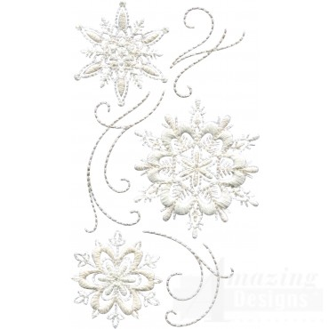 Crewel Snowflake Group 9 Embroidery Design