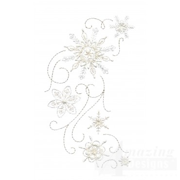 Crewel Snowflake Group 11 Embroidery Design