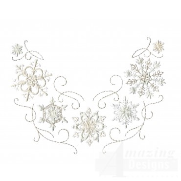 Crewel Snowflake Group 12 Embroidery Design