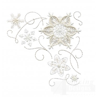 Crewel Snowflake Group 14 Embroidery Design