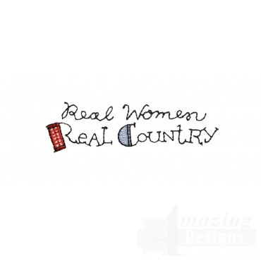 Real Women Real Country Embroidery Design