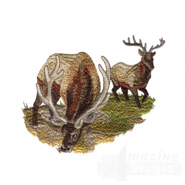 Foraging Elk North Woods Autumn Embroidery Design
