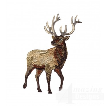 Elk North Woods Autumn Embroidery Design