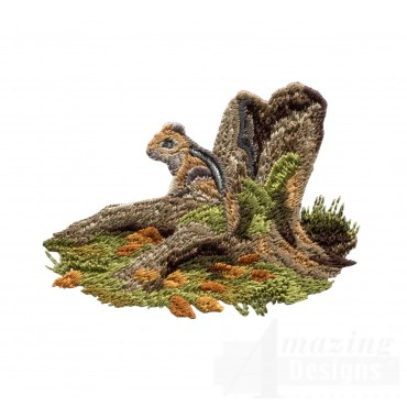 Chipmunk North Woods Autumn Embroidery Design