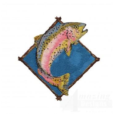 Embroidery Machine Design Trout
