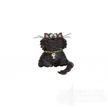 Halloween Cat Halloween Embroidery Design