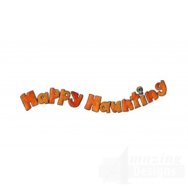 Happy Haunting Halloween Embroidery Design