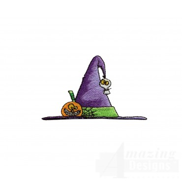 Witch Hat Halloween Embroidery Design