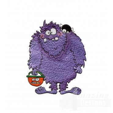 Trick Or Treat Monster Halloween Embroidery Design