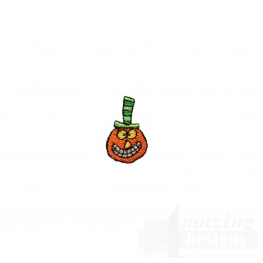 Small Pumpkin Halloween Embroidery Design