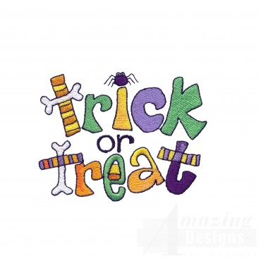 Trick Or Treat Halloween Embroidery Design