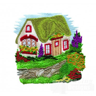 Charming Cottages Swnct101 Embroidery Design