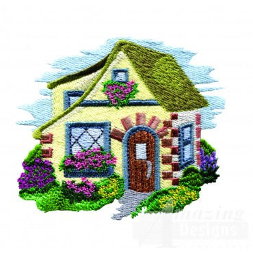 Charming Cottages Swnct103 Embroidery Design