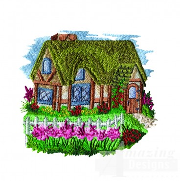 Charming Cottages Swnct105 Embroidery Design