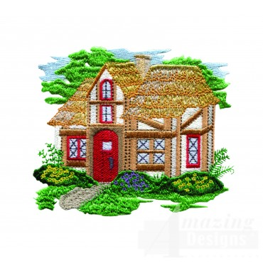 Charming Cottages Swnct107 Embroidery Design