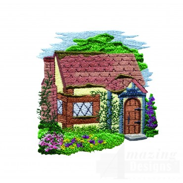 Charming Cottages Swnct108 Embroidery Design