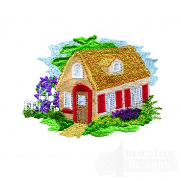 Charming Cottages Swnct110 Embroidery Design