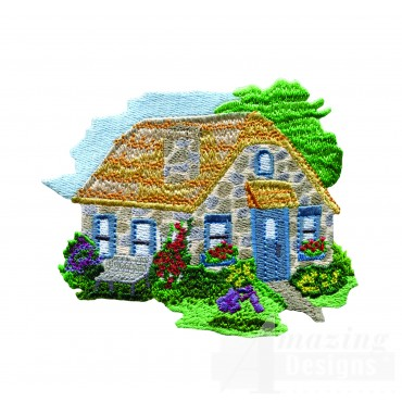 Charming Cottages Swnct111 Embroidery Design
