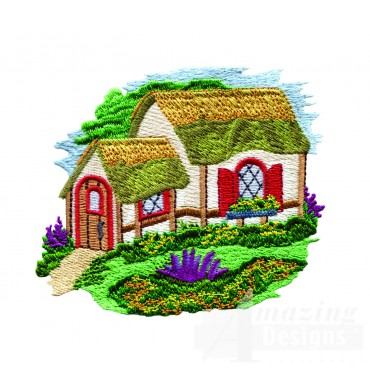 Charming Cottages Swnct114 Embroidery Design
