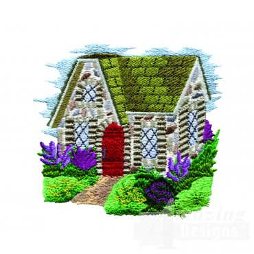 Charming Cottages Swnct117 Embroidery Design