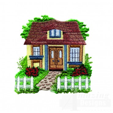 Charming Cottages Swnct118 Embroidery Design