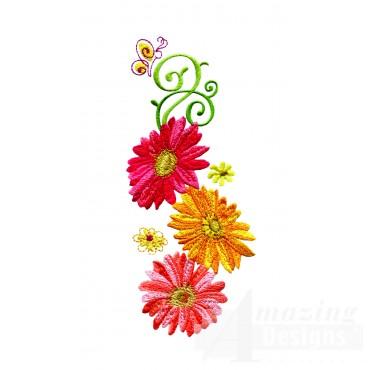 Delightful Daisy Swndsy115 Embroidery Design