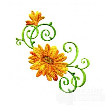 Delightful Daisy Swndsy121 Embroidery Design