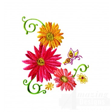 Delightful Daisy Swndsy124 Embroidery Design