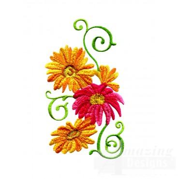 Delightful Daisy Swndsy125 Embroidery Design