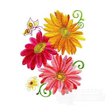 Delightful Daisy Swndsy146 Embroidery Design