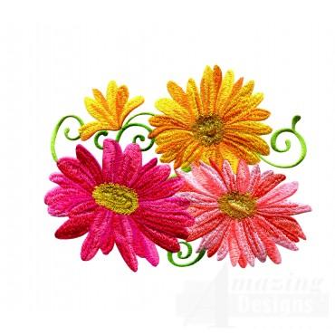 Delightful Daisy Swndsy148 Embroidery Design