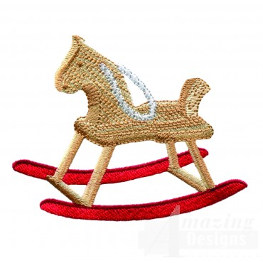 Swnbear103 Rocking Horse Embroidery Design