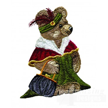 Swnbear105 Fashionable Bear Embroidery Design