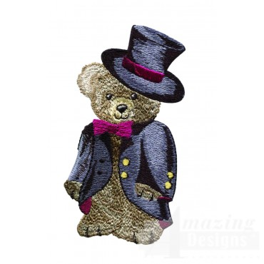 Swnbear108 Gentleman Bear Embroidery Design