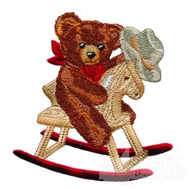 Swnbear111 Cowboy Bear Embroidery Design