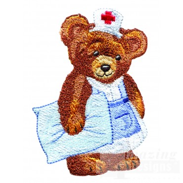 Swnbear112 Nurse Bear Embroidery Design