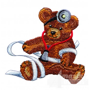 Swnbear116 Doctor Bear Embroidery Design
