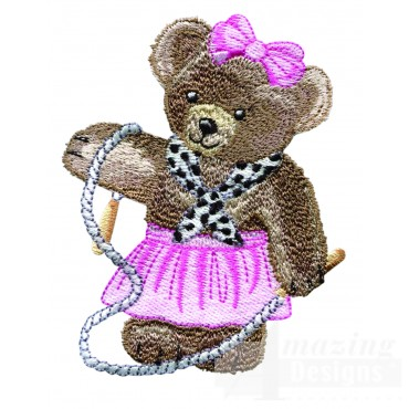 Swnbear118 Workout Bear Embroidery Design