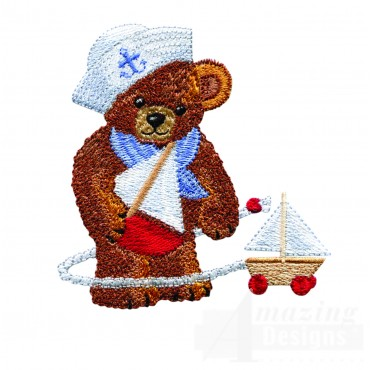 Swnbear121 Sailor Bear Embroidery Design