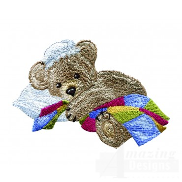 Swnbear122 Napping Bear Embroidery Design