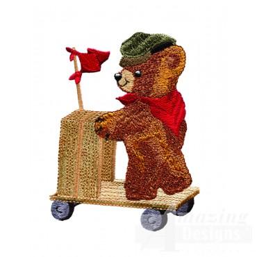 Swnbear125 Push Cart Bear Embroidery Design