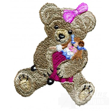 Swnbear127 Bear With Doll Embroidery Design