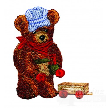 Swnbear129 Conductor Bear Embroidery Design